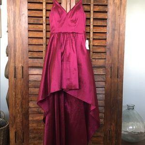 Dresses & Skirts - High low satin homecoming dress